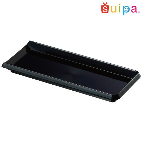 PS 90×33ミリ 長角トレー 黒 1,000個【インジェクショントレー プラスチックのケーキトレー】