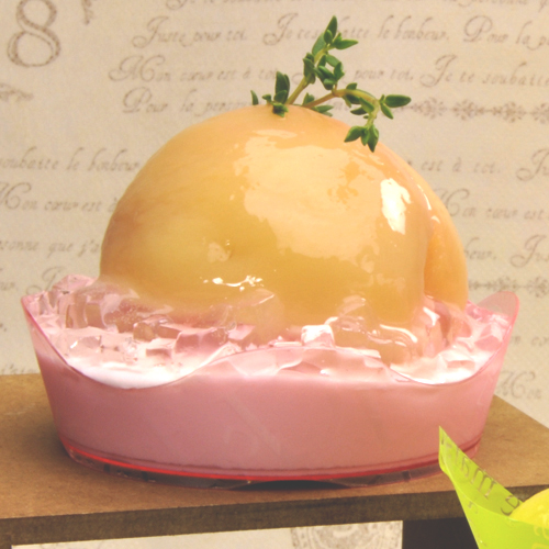 【送料無料】【ケーキトレー プラスチック】PS 76φ アラモードトレー ガトデリ 薄赤 1000個【インジェクショントレー モンブランや皿盛りスイーツに! まるごと桃ケーキに】