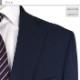 [1J7C31-31] メンズジャケット レギュラー ビジネス テーラードジャケット 紺 ウィンドペン 格子柄 ストレッチ 春夏 クールビズ
