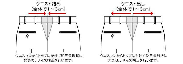 [uesuto-hosei]ウエスト補正 (ウエスト詰め ウエスト出し)