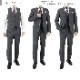 [1YCC02-33] スリーピース スーツ 3ピース スリムスーツ 白黒 千鳥格子 リンクルフリー ストレッチ ナロースリーピース スーツ 2021新作 春夏スーツ ベスト ジレ付