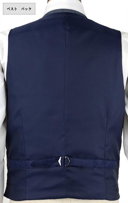[1IFA43-32] [ネコポス] ジレ/ベストスーツ/ジレ ベスト/ジレ メンズ/ジレ/オッドベスト/ベスト/ベスト メンズ/ベスト/【サイズ交換OK・返品不可】/紺ブルー 格子 ストレッチ/スーツ仕立て/