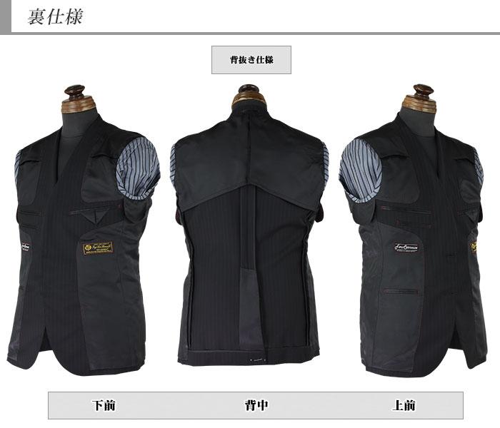 [1MH902-20] スーツ メンズスーツ ビジネススーツ ロロピアーナ ロロ LoroPiana イタリア生地 黒 ストライプ レギュラースーツ 春夏スーツ