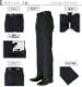 [1JD031-21] [ネコポス] スラックス ビジネス ウォッシャブル メンズパンツ ノータック 紺 シャドーストライプ クールビズ 春夏 洗える 家庭洗濯可 すべり止め付き