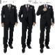 [2J5C32-20] スーツ メンズスーツ ビジネススーツ 黒 シャドーストライプ レギュラースーツ 秋冬 春 スーツ ワンタック 洗えるパンツウォッシャブル機能