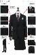[2J5C33-20] スーツ メンズスーツ ビジネススーツ 黒 ストライプ レギュラースーツ 秋冬 春 スーツ ワンタック 洗えるパンツウォッシャブル機能