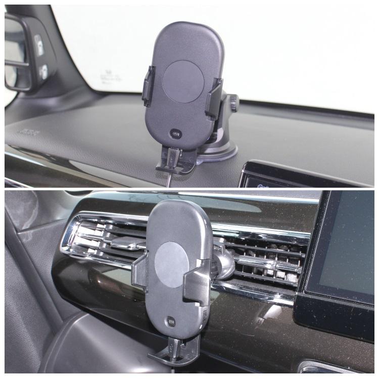 センサー式車載スマホホルダー スマホスタンド 赤外線センサー自動開閉スマートフォン車載ホルダー