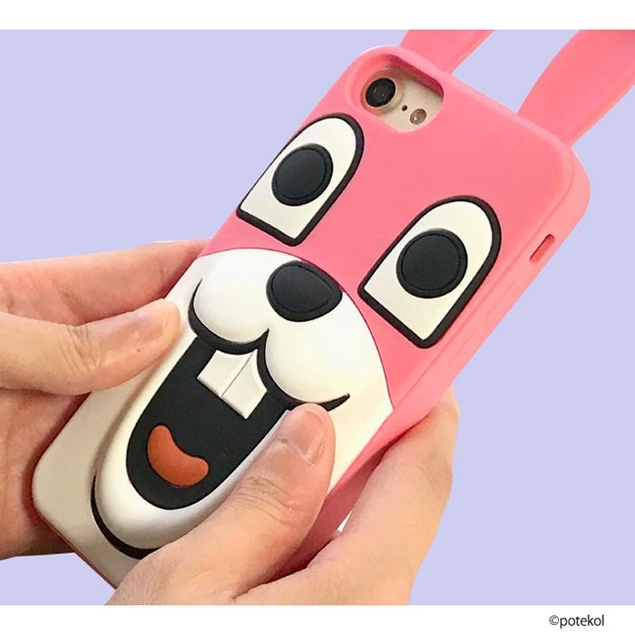 iPhone8 シリコン ケース iPhone7 iPhone6S iPhone6 【LINE】ポテ豆 目が笑ってない着ぐるみたち スタンプ iPhone アイフォン スマホケース アイフォン8 アイフォン7 アイフォン6s アイフォン6 アイフォーン シリコン ライン キャラクター 面白い スマホ スマフォ