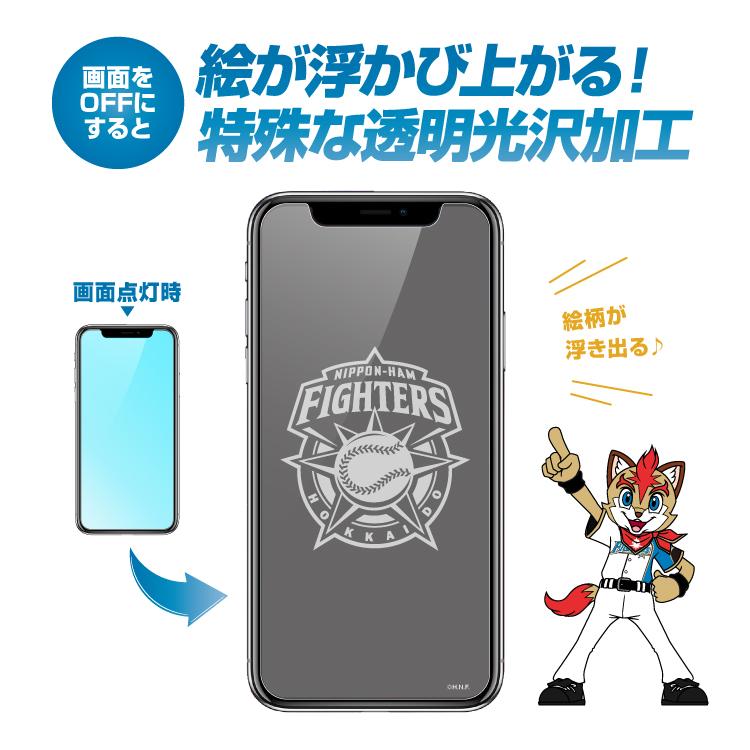 北海道日本ハムファイターズ公認 9H強化ガラスフィルム スクリーンガード iPhoneXS iPhoneX アイフォン10 アイフォーン フレップ FREP ポーリー POLLY ファイターズロゴ 画面保護 反射防止 指紋防止