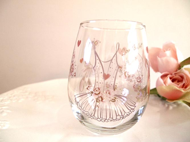 【ガラス用】水彩バレエ&アルファベットA4サイズ