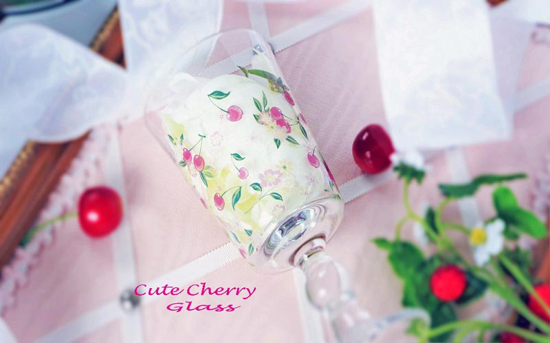 《20%OFF!》【ガラス用】Cute Cherry転写紙