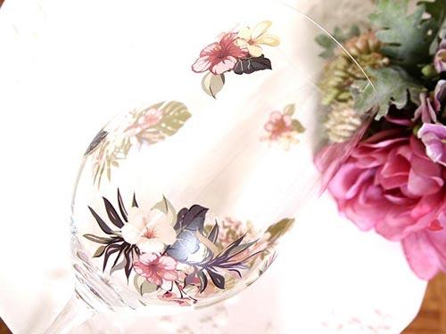 【ガラス用】 水彩 トロピカルフラワ