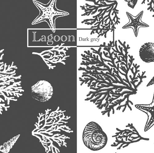 Lagoon転写紙 dark grey