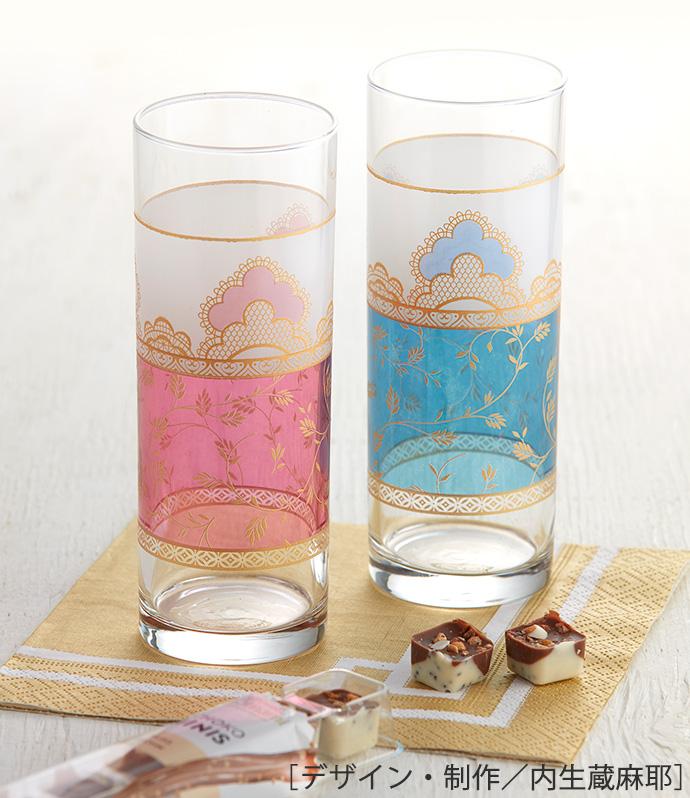 【ガラス用】モロッカン風(ピンク)