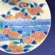 鍋島様式色絵紫陽花文