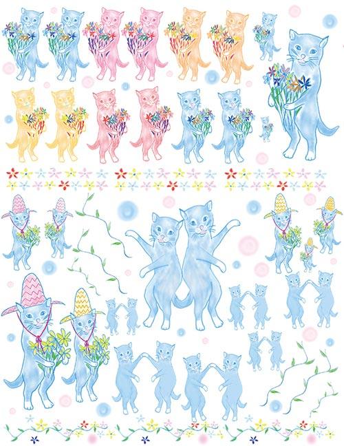 《20%OFF!》 水彩 Cats 猫 転写紙 【在庫限りSALE】