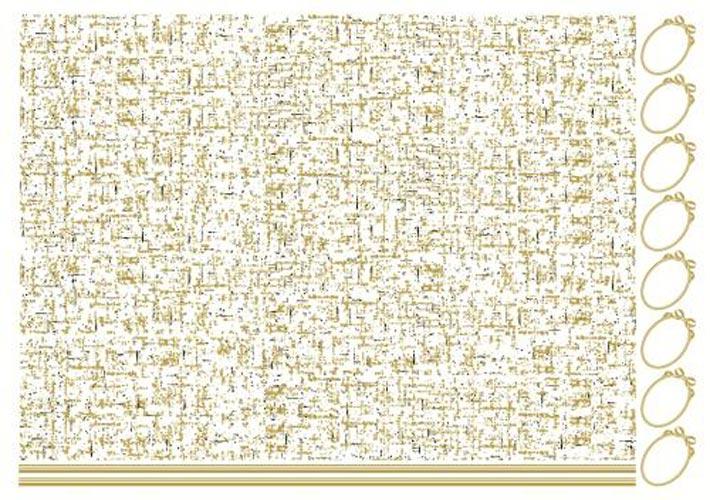 ゴールド × ブラックツイード転写紙