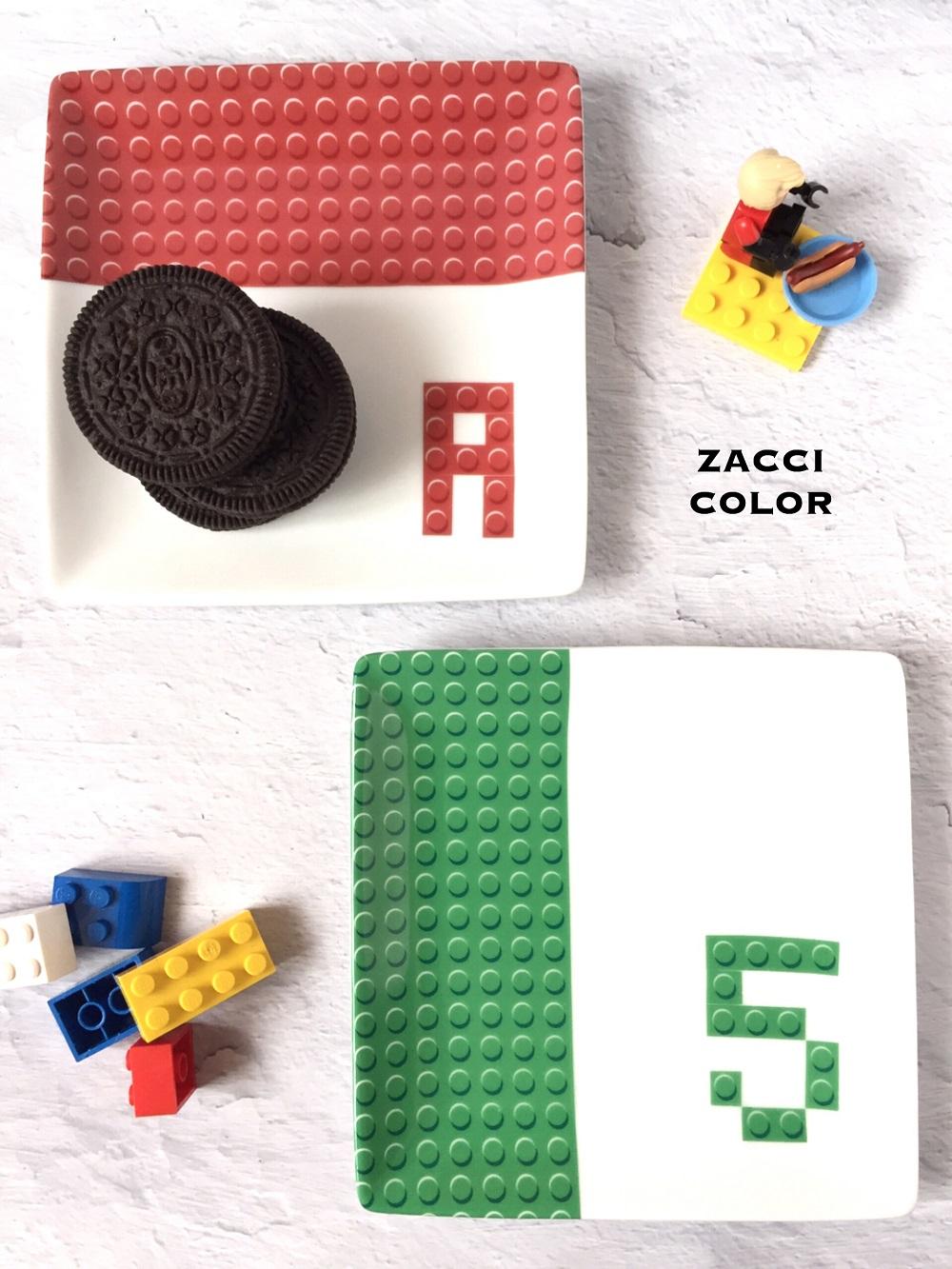 ブロックパターン転写紙 レッド