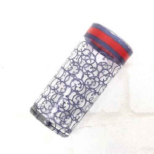 【ガラス用】リボン レッド&ブルー