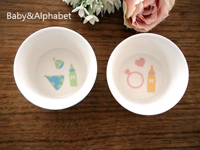 ベビー&アルファベット転写紙 ピンク
