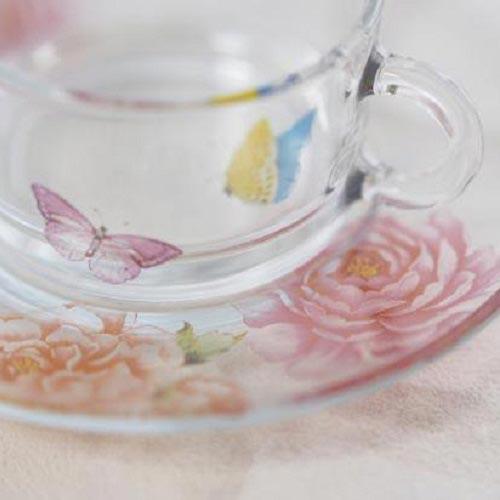 【ガラス用】 芍薬&バタフライ