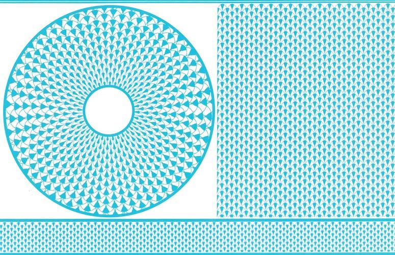 Ecaille エカイユ転写紙 vivid blue