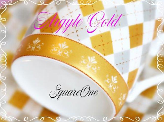 アーガイル転写紙 ゴールド&ホワイトゴールド