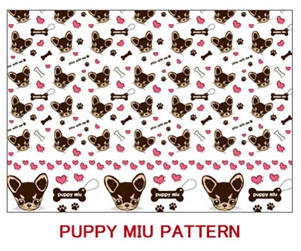 《44%OFF!》 PUPPY MIU  パターン転写紙  チョコ×クリーム 【在庫限りSALE】