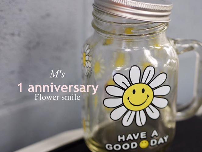 【ガラス用】 Flower Smile フラワースマイル転写紙