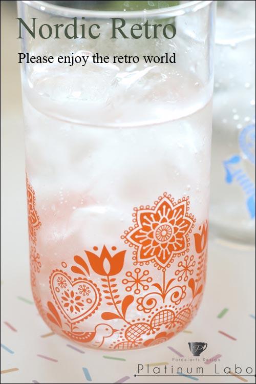 《30%OFF!》【ガラス用】北欧レトロ転写紙オレンジ【SALE期間:6/1〜6/末】