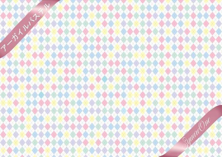 《10%OFF》アーガイル転写紙 パステル【SALE期間:8/1〜9/末】