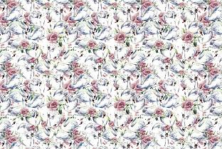 rose swan転写紙