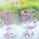 《10%OFF!》【ガラス用】マーブルフラワー ピンク&ライラック【SALE期間:9/1〜11/末】