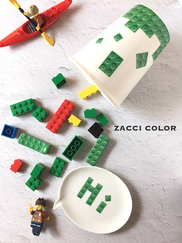 ブロックパターン転写紙 グリーン