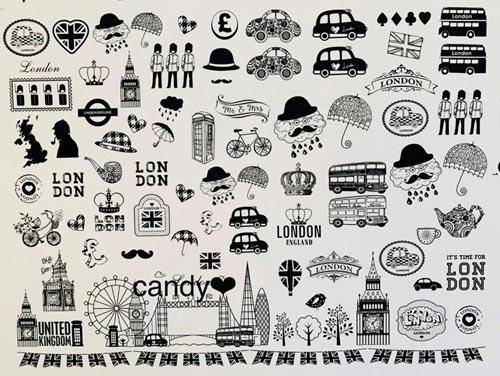 Lovely London Life 転写紙