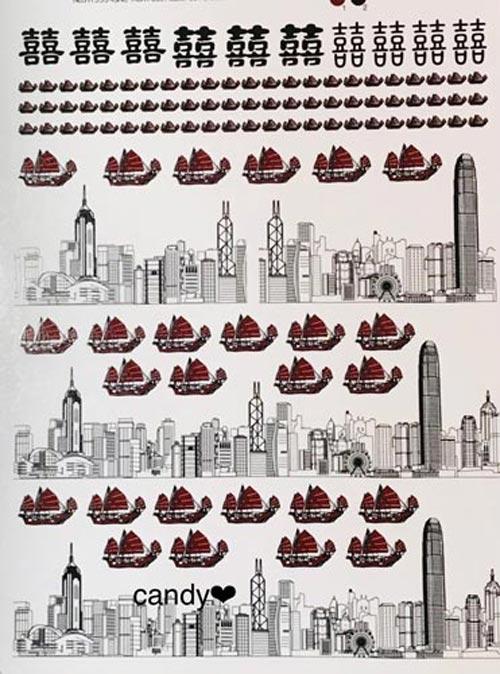 香港柄 Victoria Harbour view 転写紙