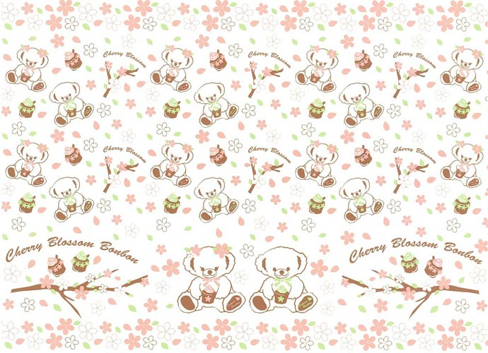 《20%OFF!》AnniversaryBear SakuraBonbon転写紙 パターンタイプ 【SALE期間:1/1〜1/末】