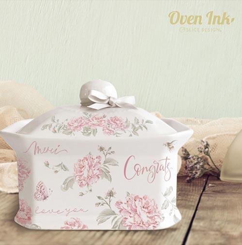 【オーブン転写紙】ラッフル ピオニー(ピンク) A4