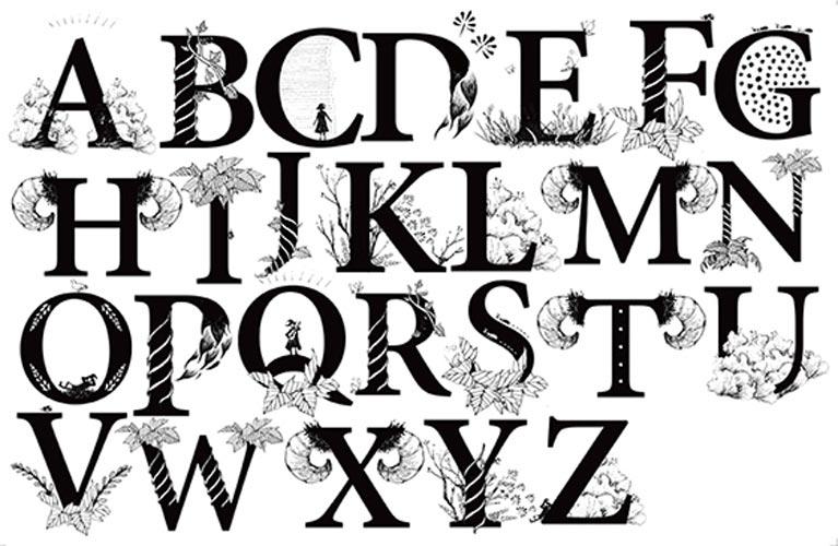 【ガラス用】 イニシャルアルファベット転写紙