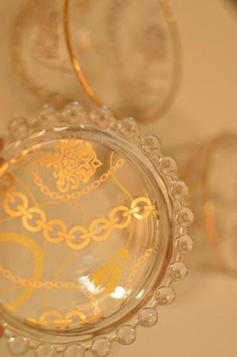 【ガラス用】タッセルチェーン W ゴールド