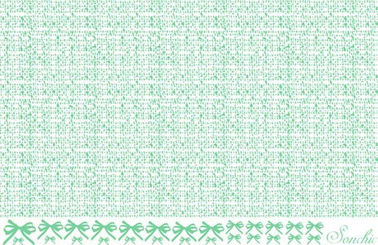【在庫限り】 ツイード&リボン転写紙 グリーン