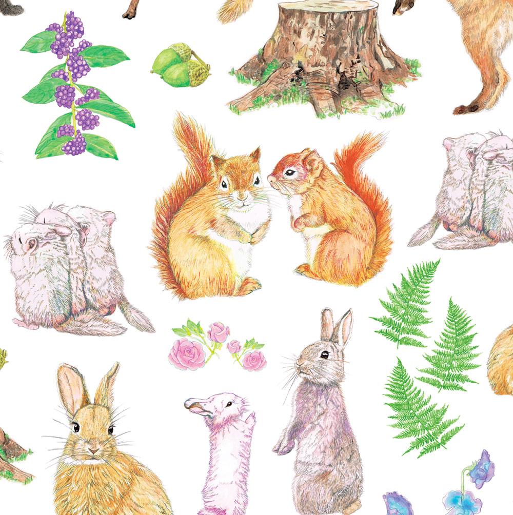 『森のもふもふフレンズ』fluffy friends in the forest