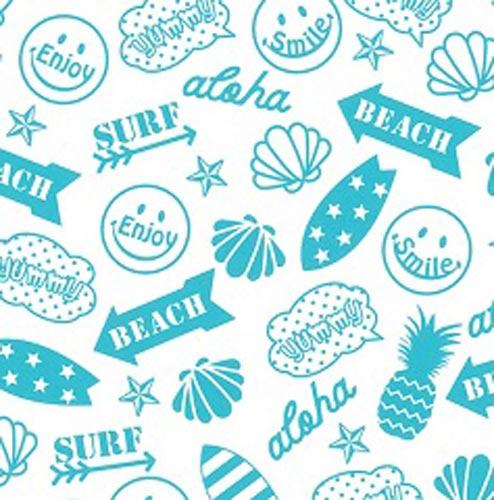 【ガラス用】Beach Smile ビーチスマイル転写紙 マリブブルー