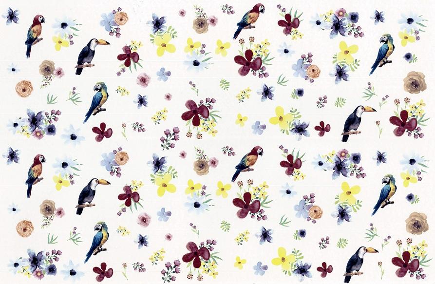Beautiful flower forest転写紙