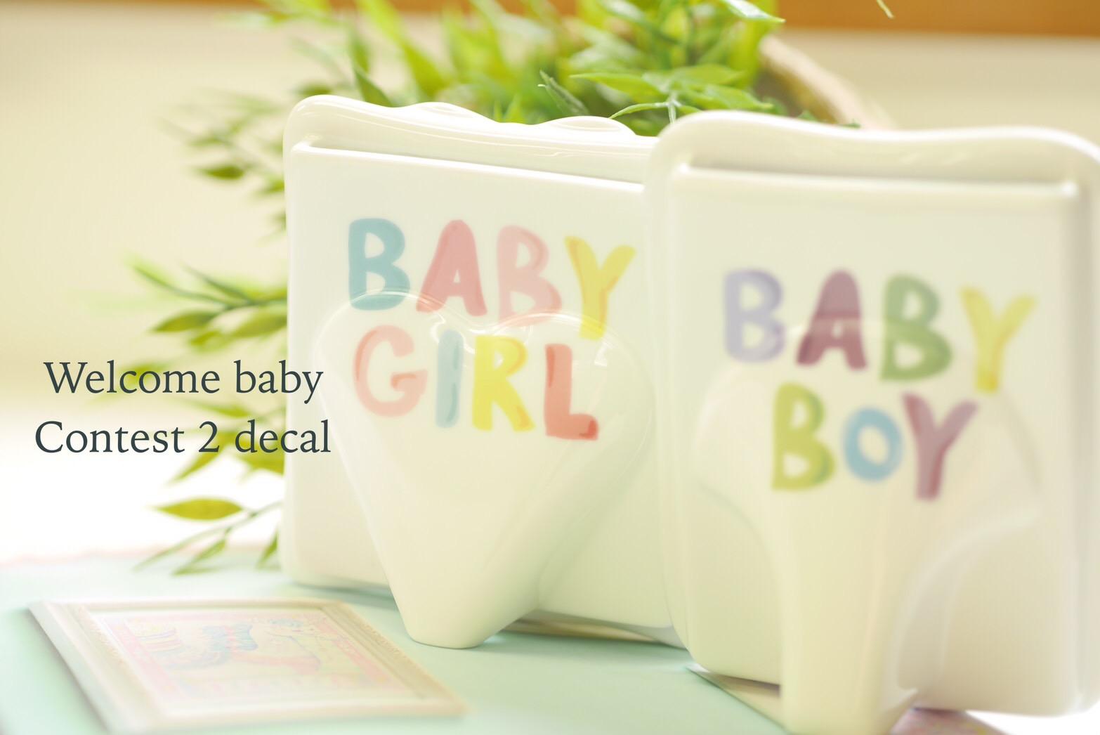 Welcome Baby転写紙 GIRL