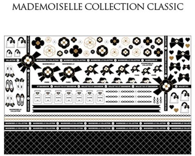 Mademoiselle Classic転写紙 リッチブラック×マットゴールド