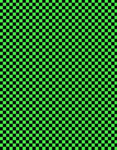 古典和柄 市松 黒×緑