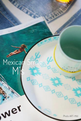 Mexican Smile メキシカンスマイル転写紙マリンブルー