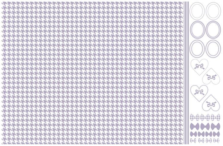 千鳥格子転写紙 ペールオーキッド