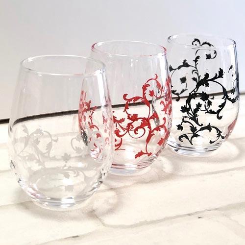 【ガラス用】アラベスク ブラック